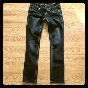 Rock Revival black Irina straight jeans 26